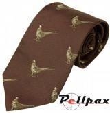 Burgundy Pheasant Silk Tie by Bisley