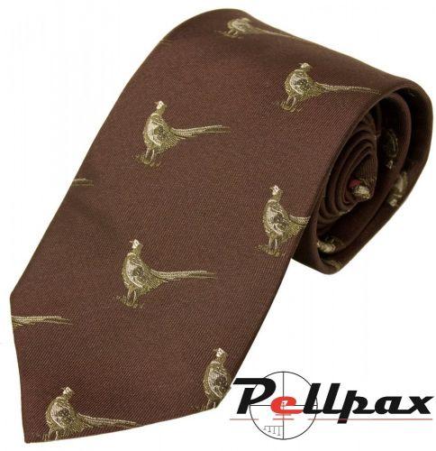 Pheasant Silk Tie by Bisley
