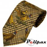 Green Check Pheasant Silk Tie by Bisley