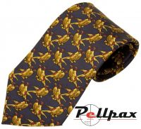 Twin Pheasant Silk Tie by Bisley