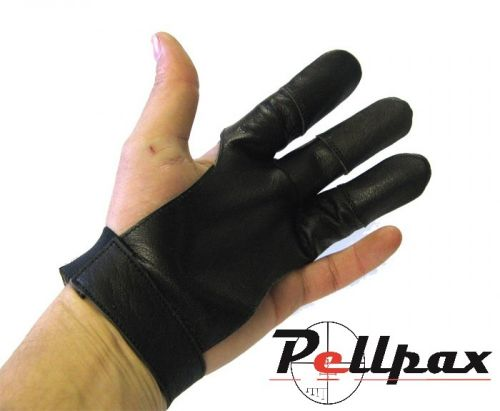 MAC Full Finger Black Leather Glove TD-12