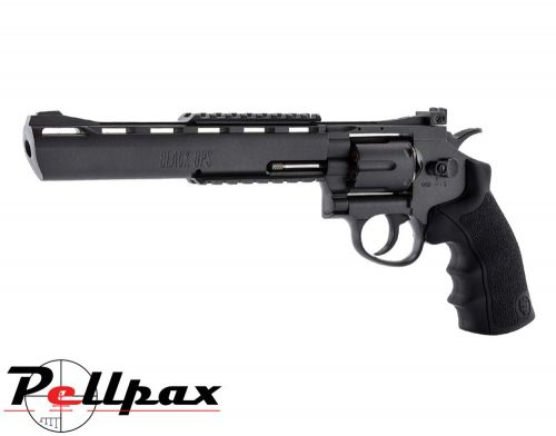 """Black Ops Justice Dealer Black 8"""" - 4.5mm BB Air Pistol"""