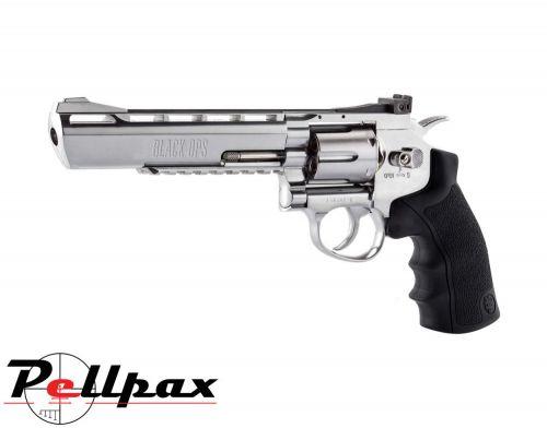 "Black Ops Justice Dealer Silver 6"" - 4.5mm BB Air Pistol"