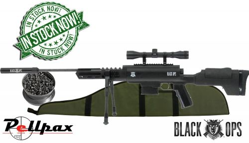 Black Ops Tactical Sniper - .22 Air Rifle + FREE Pellets & Gunbag