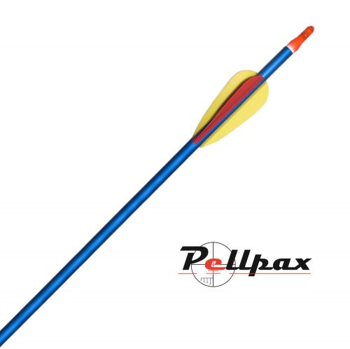"""Blue Pointed Aluminium Arrows 30"""" - Pack of 5"""