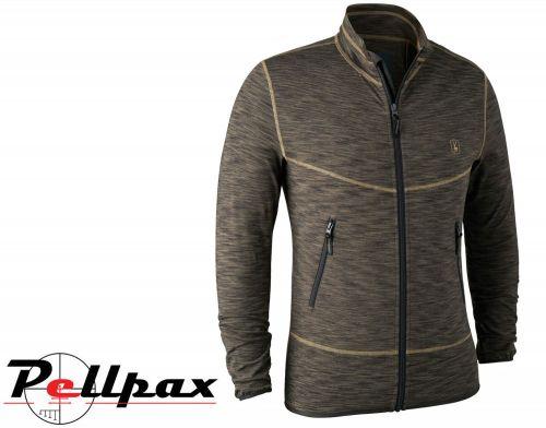 Norden Insulated Fleece Brown Melange Jacket By Deerhunter