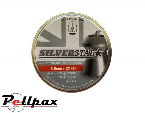 BSA Silverstar Premium Pellets - .22 x 200