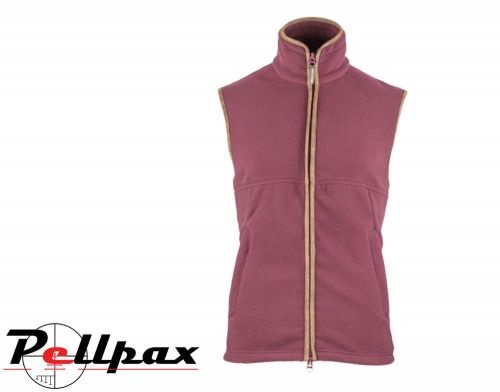 Countryman Fleece Gilet By Jack Pyke in Burgundy