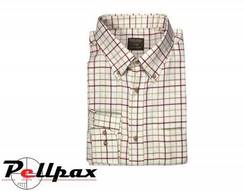 Countryman Shirt By Jack Pyke in Burgundy Check