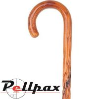 Dark Swirl Acacia Crook Handle Stick