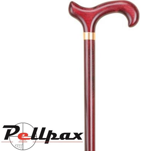 Mahogany Derby Cane with Collar