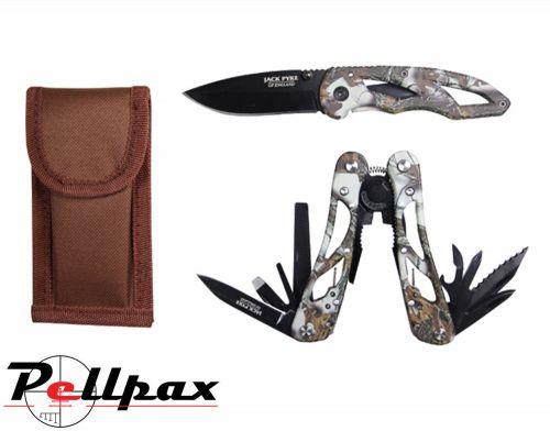 Camo Multi Tool & Knife Set By Jack Pyke