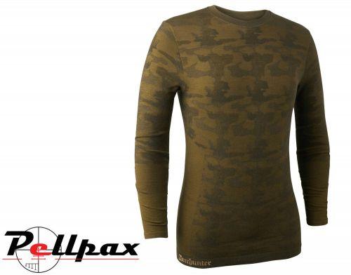 Camou Wool Underwear Shirt in Beech Green by Deerhunter