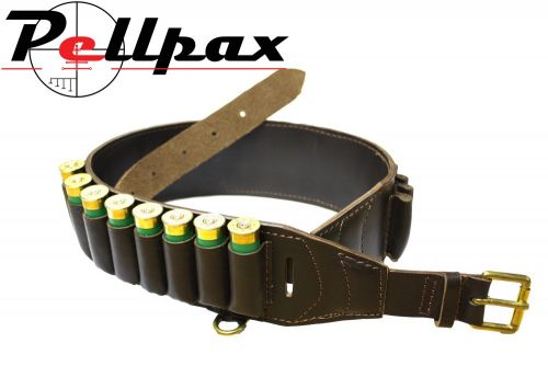 Bisley Deluxe Brown Leather Cartridge Belt