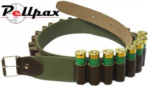 Bisley Leather on Webbing Cartridge Belt - Loops