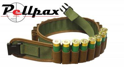Bisley Leather on Webbing Cartridge Belt - Pockets