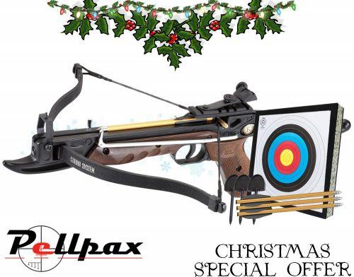 EK Archery Cobra 80lbs Aluminium Pistol Crossbow Complete Kit