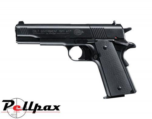 Colt 1911 A1 Government Black .177 Pellet CO2 Pistol + Hard Case - Second Hand