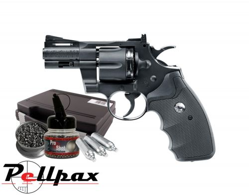 "Colt Python .357 2.5"" Combo Kit - 4.5mm BB & .177 Pellet Air Pistol"