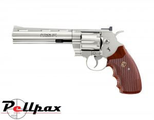 "Colt Python 6"" Nickel - 4.5mm BB Air Pistol"