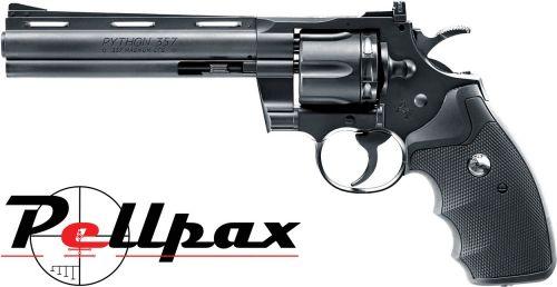 "Colt Python .357 6"" Black - 4.5mm BB & .177 Pellet"