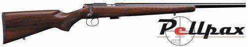 """CZ 455 Varmint Walnut 16"""" - .17 HMR Screw Cut Barrel"""