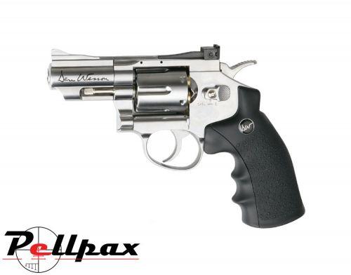 "Dan Wesson 2.5"" Silver - .177 Pellet Air Pistol"