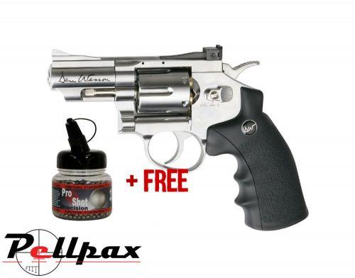 "Dan Wesson 2.5"" Silver - 4.5mm BB Air Pistol - & Free BB's"