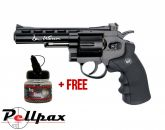 "Dan Wesson 4"" Black - 4.5mm BB Air Pistol - & Free BB's"
