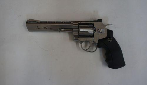 "Dan Wesson 6"" Silver - .177 Pellet Air Pistol - Second Hand"