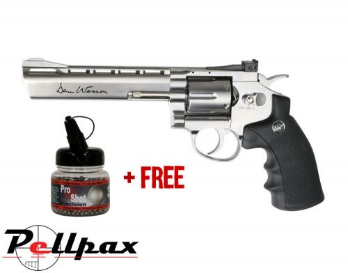 "Dan Wesson 6"" Silver - 4.5mm BB Air Pistol"