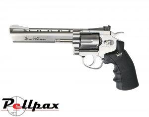 "Dan Wesson 6"" Silver - .177 Pellet Air Pistol"