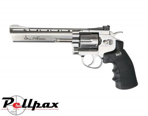 """ASG Dan Wesson Revolver 6"""" Silver 4.5 mm BB CO2 Pistol - Second Hand"""