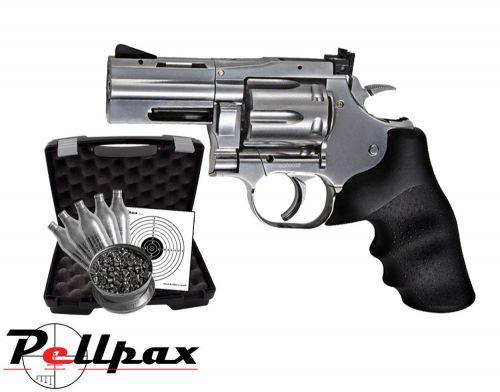 """Dan Wesson 715 2.5"""" Silver Pistol Kit - .177 Pellet"""