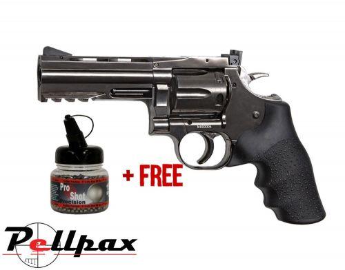 "Dan Wesson 715 4"" Grey - 4.5mm BB Air Pistol - & Free BB's"
