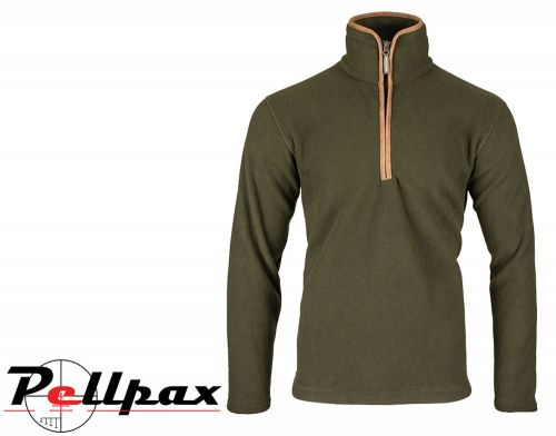 Countryman Fleece Pullover By Jack Pyke in Dark Olive