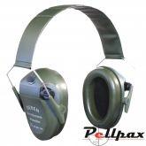 Deben Slim Electronic Ear Defenders - Green