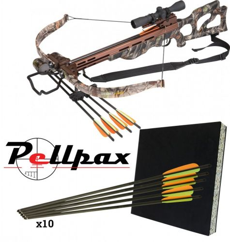 Ek Archery Desert Hawk 225lbs Recurve Crossbow Complete Kit!