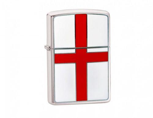 Zippo Brushed Chrome Flag Lighter - England