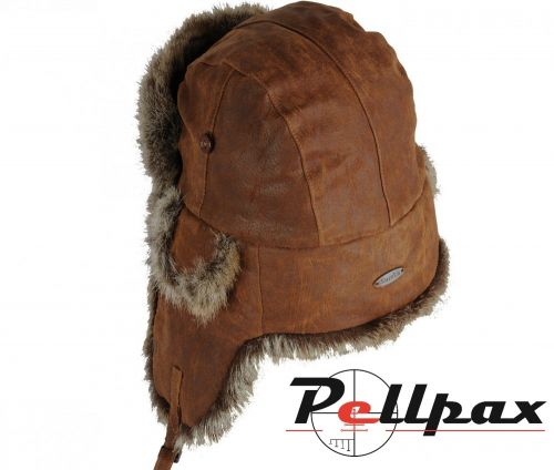 Soft Leather Trapper Hat