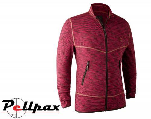 Norden Insulated Fleece Red Melange Jacket By Deerhunter
