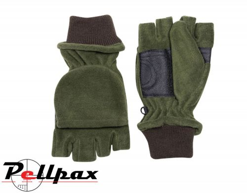 Fleece Shooters Mitts By Jack Pyke in Green