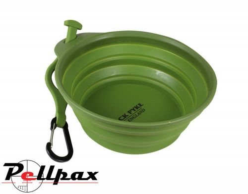 Deluxe Folding Dog Bowl By Jack Pyke in Green