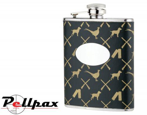 6oz Game Pattern Flask by Bisley