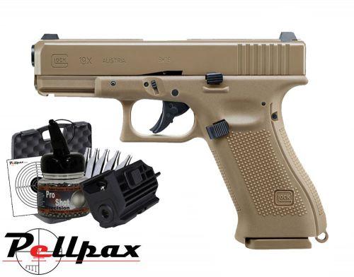 Glock 19x Tactical Combat Kit - 4.5mm BB Air Pistol