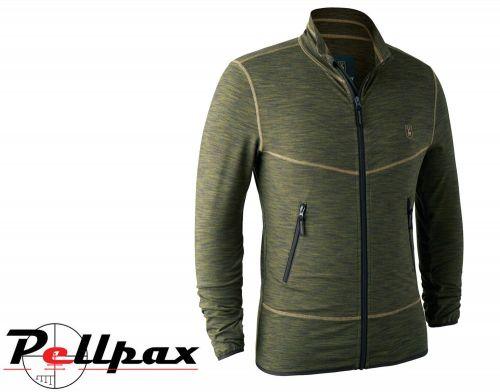 Norden Insulated Fleece Green Melange Jacket By Deerhunter