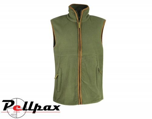 Green Country Fleece Gilet By Huntsbury