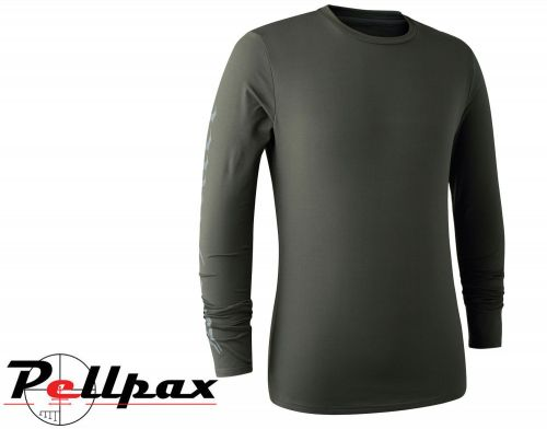 Long Sleeved Greystone T-Shirt in Timber by Deerhunter