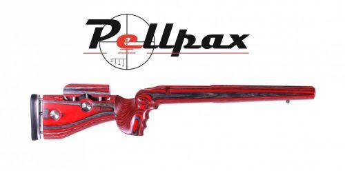 GRS Laminated Adjustable Hunting - Short Action Howa M1500 RH - Black/Red