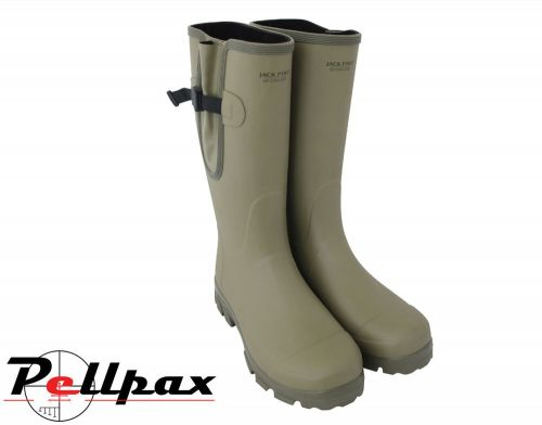 Ashcombe Gusseted Wellington Boots By Jack Pyke in Light Olive